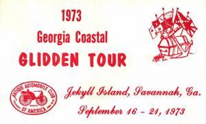 JEKYLL ISLAND SAVANNAH GEORGIA~GLIDDEN ANTIQUE AUTOMOBILE CLUB POSTCARD 1973