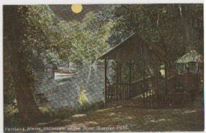 Moonlight On The River Riverton Pk Portland ME -vintage-