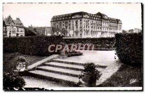 Old Postcard Deauville flowered beach hotel royal gardens
