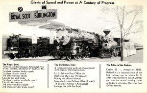 Burlington Route - Royal Scot, The Burlington, Pride of the Prairies