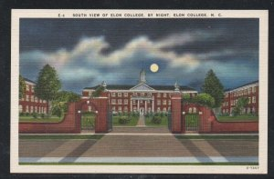 North Carolina colour pc South Night View Elon College, N.C unused