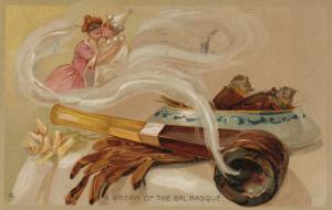 TUCK # 122; PU-1908; Couple in Pipe smoke, A Dream of the Bal Masque