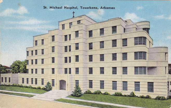 St Michael Hospital - Texarkana AR, Arkansas - pm 1955