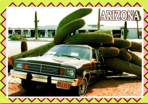 Arizona Giant Saguaro Cactus Weighing 10,000 Pounds On Top Of Car 2005