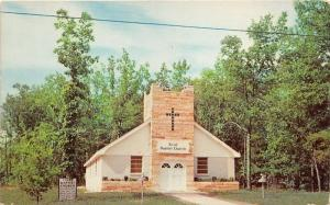 Houghton Lake Michigan~First Baptist Church~Sign in Yard~Cross on Tower~1959 Pc
