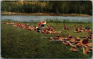 1910s WWI Military Postcard FIRING FROM SKIRMISH LINE Underwood Unused