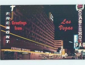 Pre-1980 PARKING GARAGE ENTRANCE AT FREMONT HOTEL Las Vegas Nevada NV F6902@