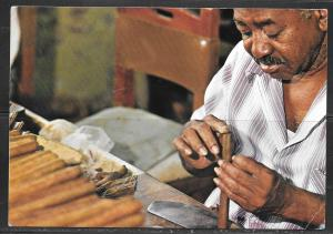 1988 Cuba, Cigar Maker at work, mailed to West Germany
