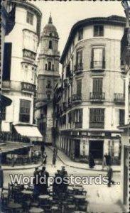 Catedral, Malaga Spain Tarjeta Postal 1956