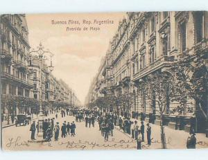 Pre-1907 STREET VIEW Buenos Aires Argentina F5254