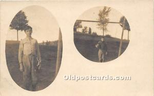 Old Vintage Football Postcard Post Card Football Players Unused