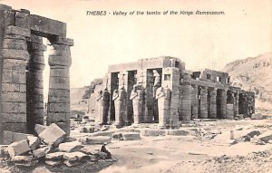 Valley of the Tombs of the Kings Ramesseum Thebes Egypt, Egypte, Africa Unused