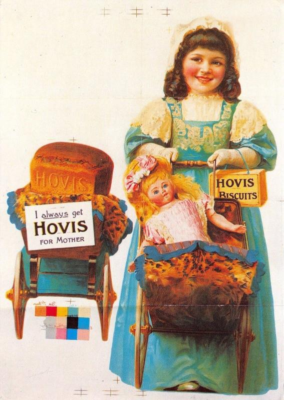Postcard Hovis Bread Biscuits 1907 Vintage Reproduction Advertisement #AD