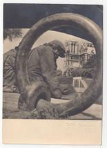 Albert Monier Photo France Sous les Ponts de Paris Vtg 4X6 Real Photo Postcard