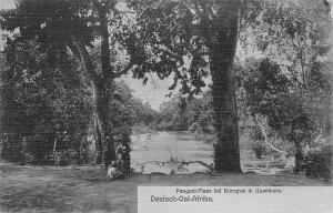 German East Africa Tanzania Pangani-Fluss bei Korogwe in Usambara, Postcard