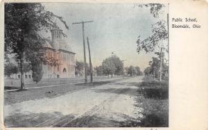 E17/ Bloomdale Ohio Postcard 1915 Public School Building Wood County