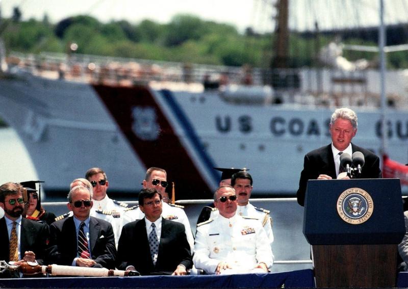 President Bill Clinton Speaking To Graduates At U S Coast Guard Academy New L...