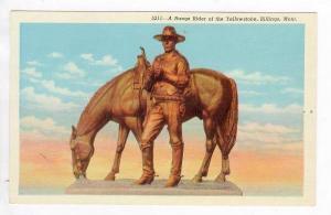 Statue of Range Rider of the Yellowstone, Billings, Montana, 30-40s