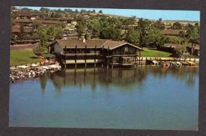 CA Frolander's Quail's Inn Hotel SAN MARCOS LAKE California Postcard