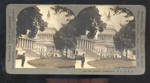 REAL POHTO WASHINGTON D.C. THE CAPITOL BUILDING STEREOVIEW CARD
