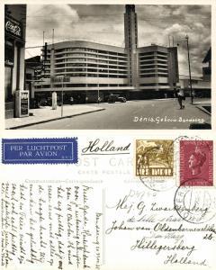 indonesia, JAVA BANDUNG, Denis Building, Coca Cola Sign (1938) RPPC Postcard