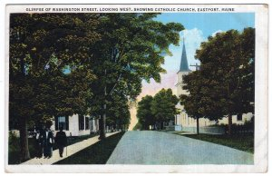 Eastport, Maine, Glimpse Of Washington Street, Looking West