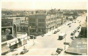MT, Billings,  Montana, 1st Street, 1940s cars, RPPC