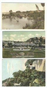 tb0249 - Devon - Cliff Walk, Abbey Park, Princess Gdns. Torquay - 3 postcards
