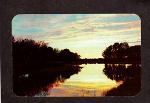 NY Sunset View Roseland Park Finger Lakes Canandaigua New York Postcard