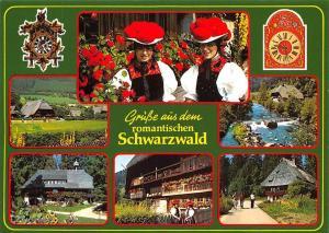 Gruesse aus dem romantischen Schwarzwald, Haus Creek House Clock Flowers Garden