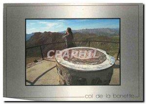Old Postcard Col de la Bonette the highest road in Europe