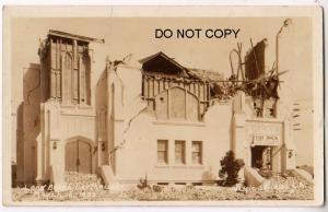 RPPC, 1933 Earthquake, Long Beach Ca