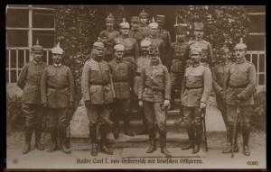 Austria WWI Kaiser Karl I Generals Franz Joseph Successor RPPC 91424