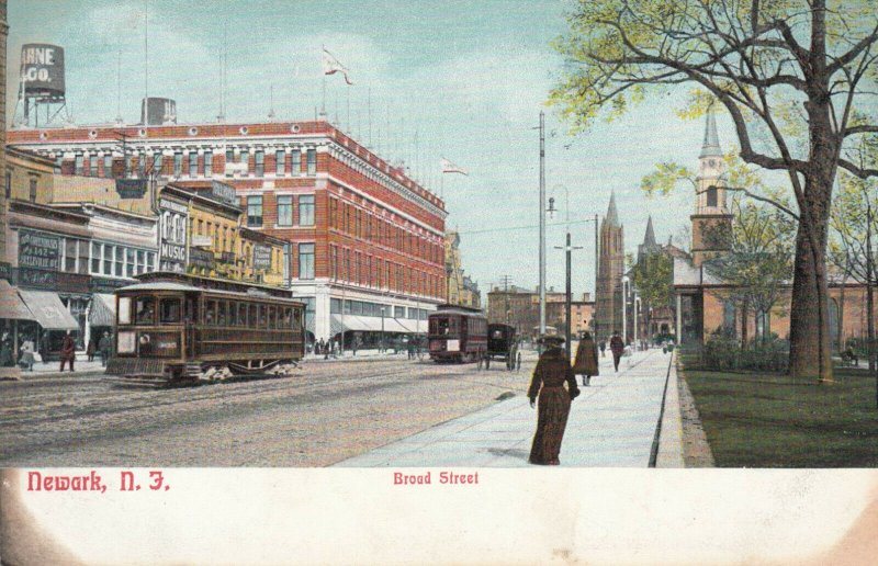 NEWARK , New Jersey, 1901-07 ; Broad Street