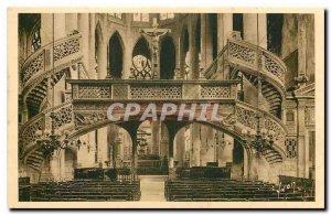 Old Postcard Paris while strolling Eglise Saint Etienne du Mont the jube
