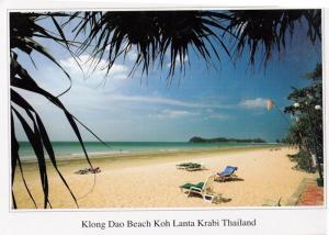 Klong Dao Beach Koh Lanta Krabi Thailand Postcard