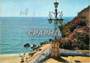 Postcard Modern Nerja (Malaga) Beach Detail