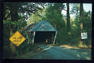 Marietta-Smyrna, Georgia/GA Postcard, Ruffs Mills Covered Bridge, Cobb County