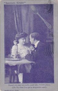 Romantic Couple Dining Spooners Delight 1909