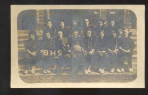 RPPC DESOTO MISSOURI BISMARCK HIGH SCHOOL BASKETBALL TEAM 1907 VINTAGE POSTCARD