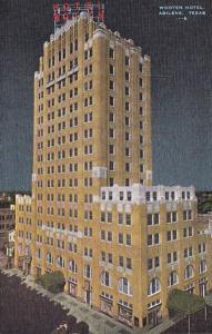 Texas Abilene The Wooten Hotel At Night