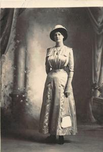 F36/ Jackson Ohio RPPC Postcard c1912 Alma Harper Well-Dressed 15
