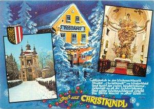 Austria Steyr Christkindl souvenir Postcard crest