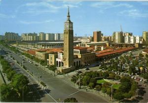 spain, ZARAGOZA, Feria Official y Estadio La Romareda (1970s) Stadium Postcard