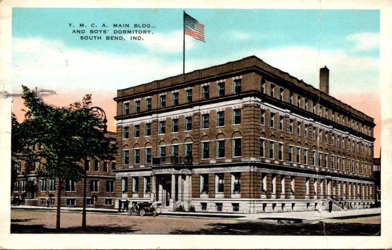 Indiana South Bend Y M C A Main Building and Boys' Dormitory