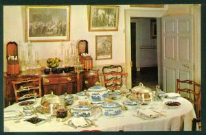 Mount Vernon Dining Room President George Washington Home Virginia VA Postcard