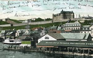 Canada -  Quebec, Quebec City. Chateau Frontenac, Citadelle and Richelieu & O...