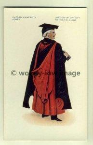 su1346 - Oxford University Robes - Doctor of Divinity - art postcard