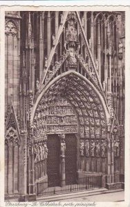 France Strasbourg La Cathedrale Porte principale