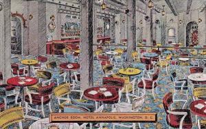 Anchor Room Hotel Annapolis Washington DC 1943